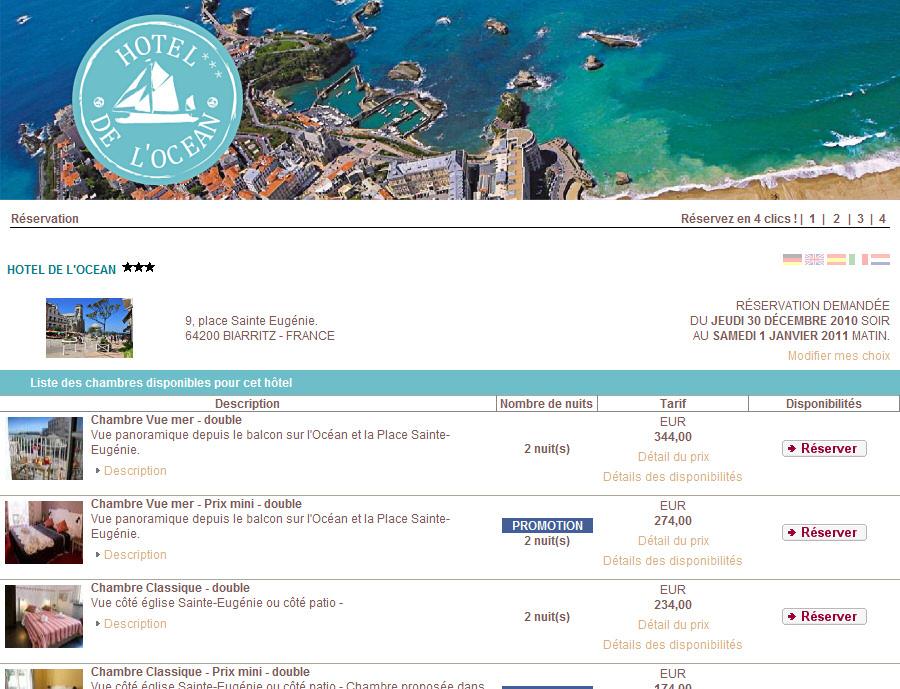 V ronique huyvaert consultant webmarketing et for Site de reservation en ligne hotel
